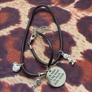 Leather Teacher Bracelet